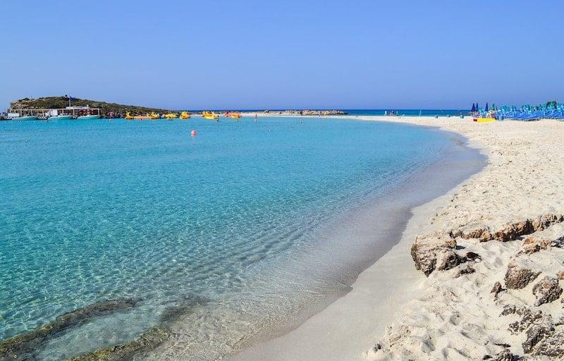 Sandy lagoon at Ayia Napa in Cyprus
