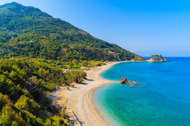 Potami Beach on the Greek island of Samos