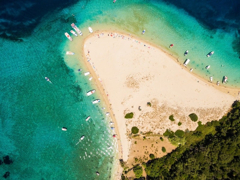 Beach on Marathonisi Island, Zakynthos