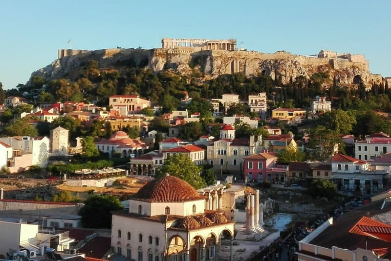 View of Acropolis of Athens and Monastiraki