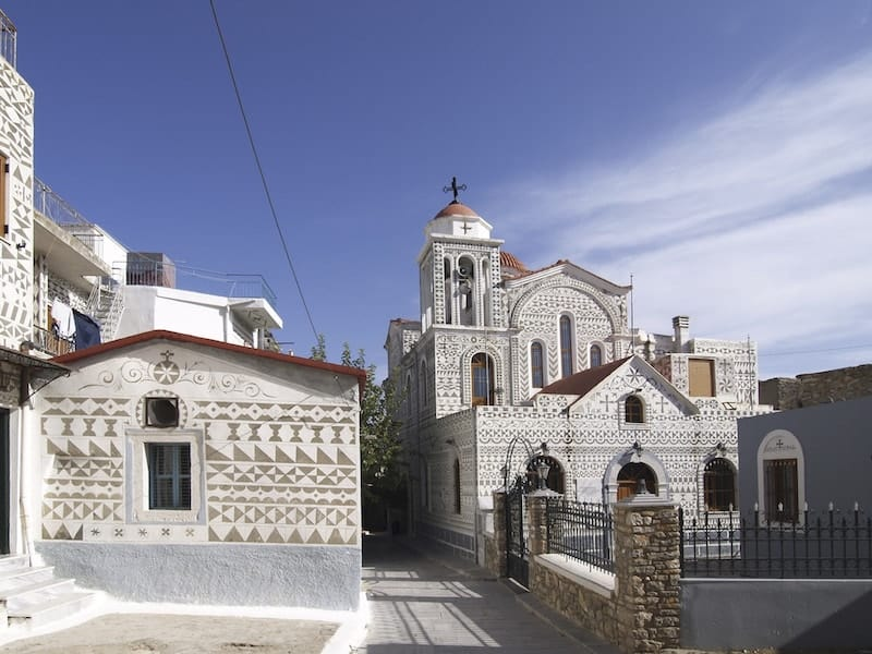Patterned houses of Pyrgi on Chios
