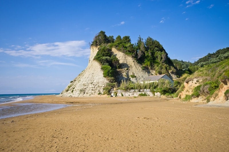Sandy beach near Agios Stefanos NW, Corfu