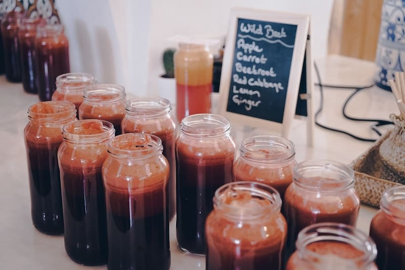 Juices at Wild View Retreat