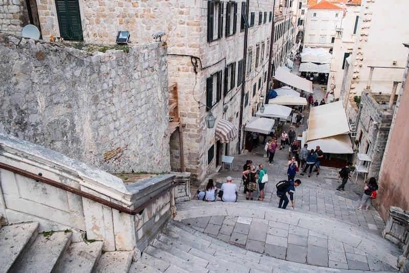 The Walk of Shame - Jesuit Steps in Dubrovnik Old Town
