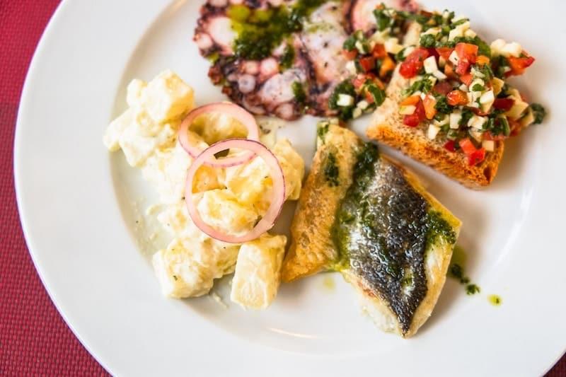 Example of Dalmatian seafood