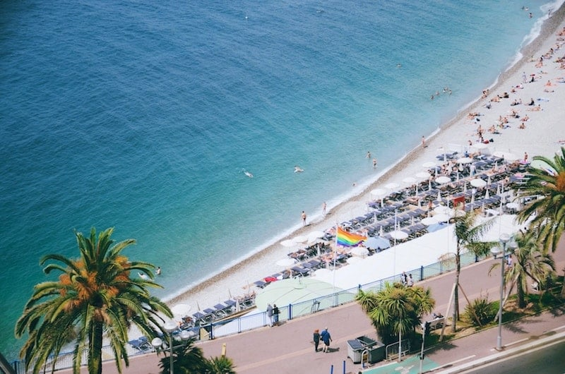 Beach at Nice from above