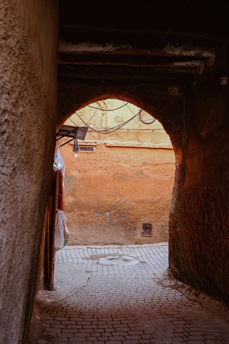 Another empty alley in Marrakech medina