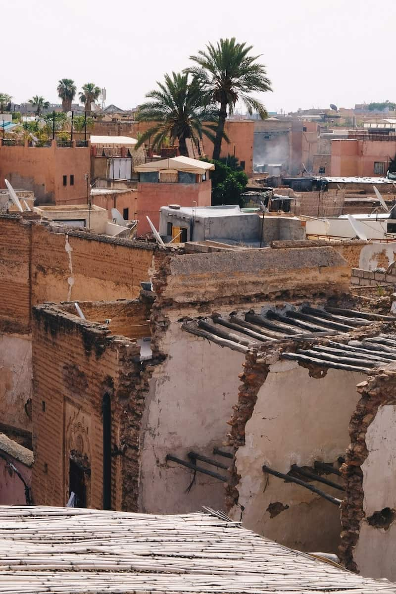Marrakech view across the rooftops