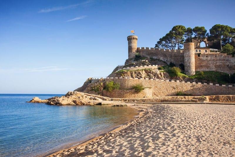 Historic castle on Tossa de Mar beach