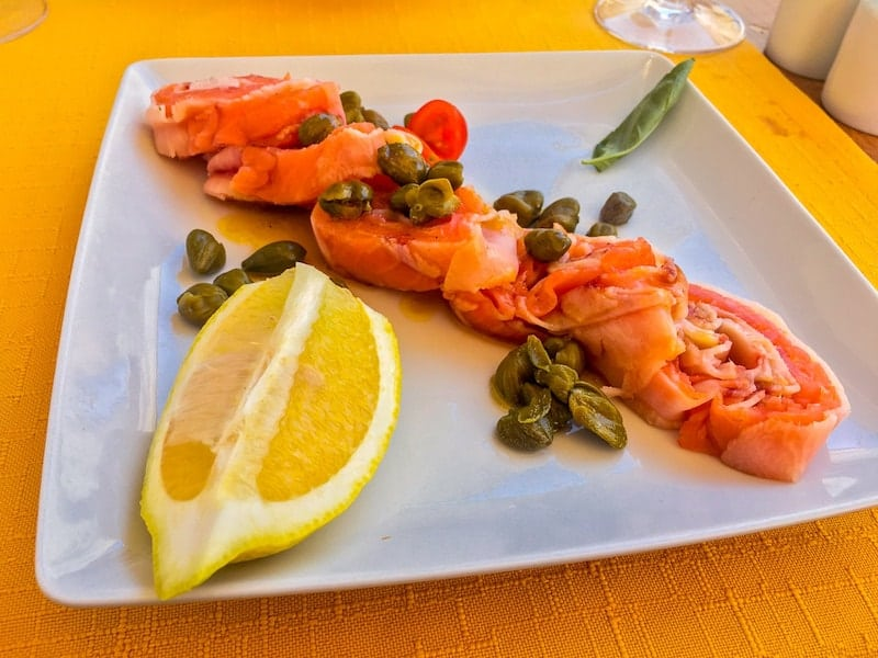 Seafood in the Algarve, Portugal