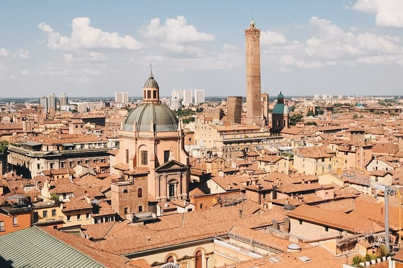 View of Bologna rooftops