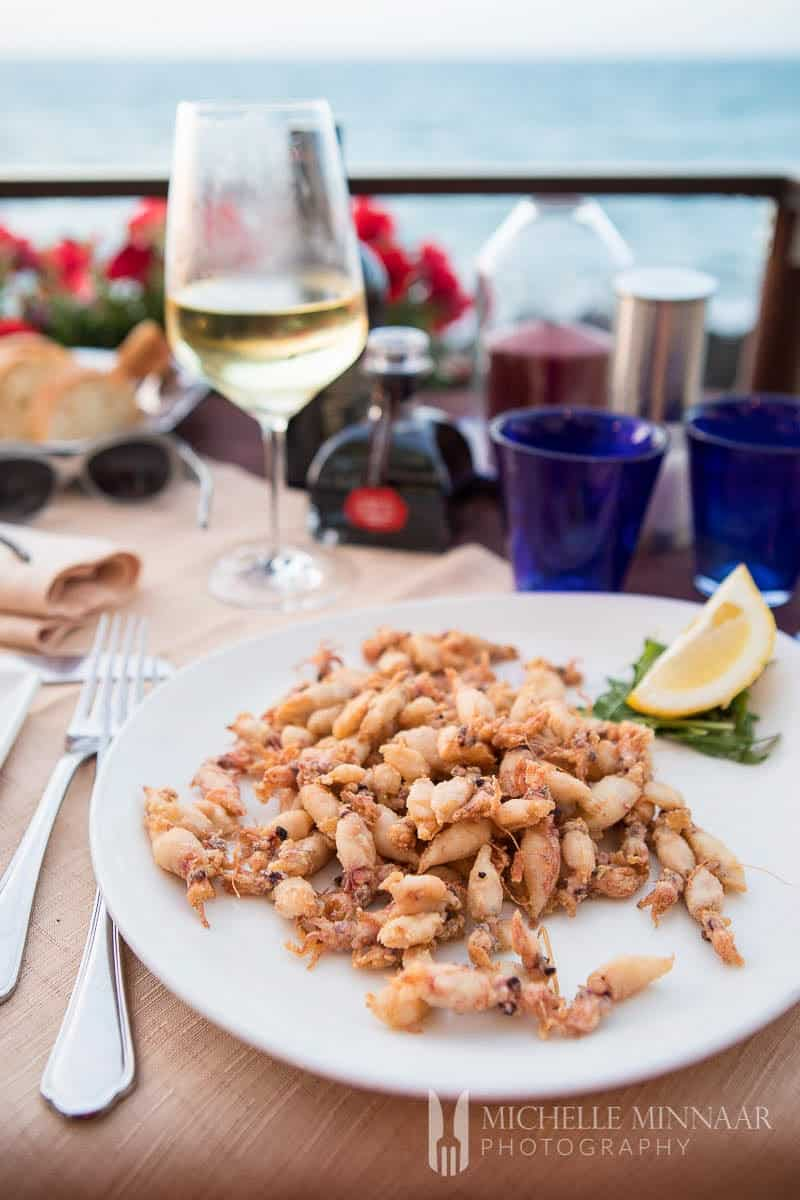 Seafood in Cefalu, Sicily