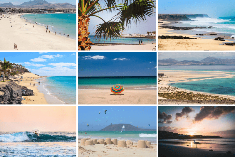 collage of Fuerteventura beach resorts