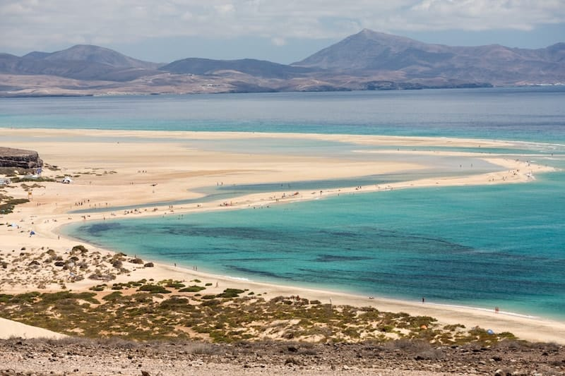 Sotavento Beach, Jandia Peninsula on Fuerteventura