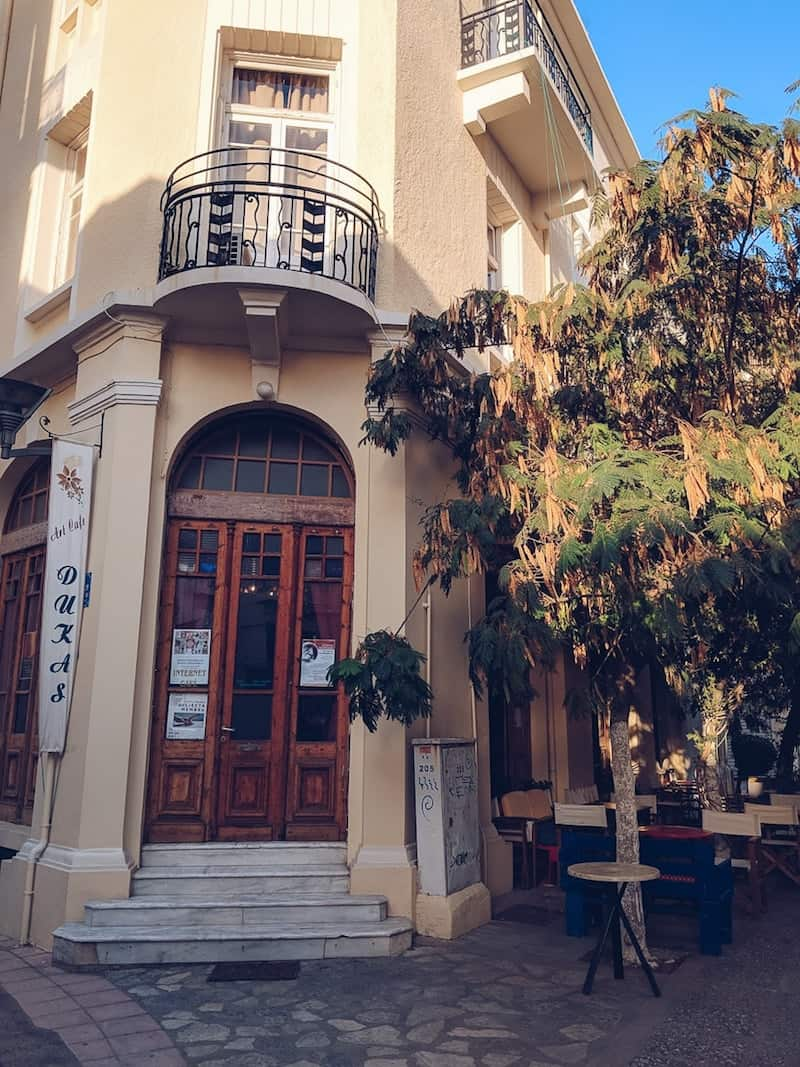 Exterior of Dukas Art Cafe, Heraklion