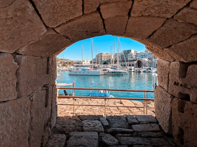 Heraklion harbour from its Venetian fortress