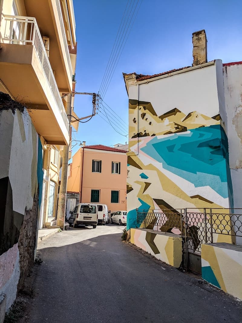 Street art in the backstreets of Heraklion