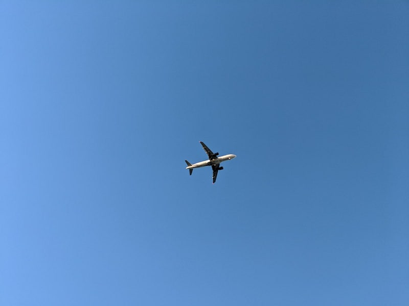 Airplane overhead Heraklion