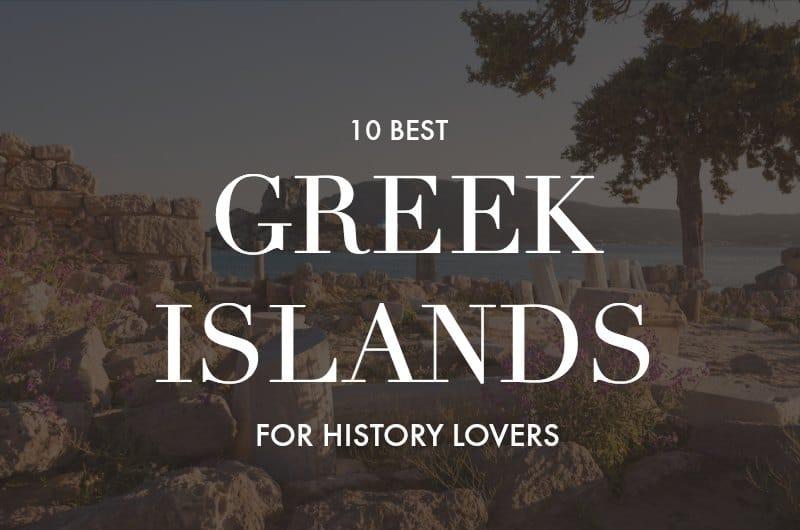 Asklepeion on Kos with text overlay 'Which Greek islands are the best for history lovers?'