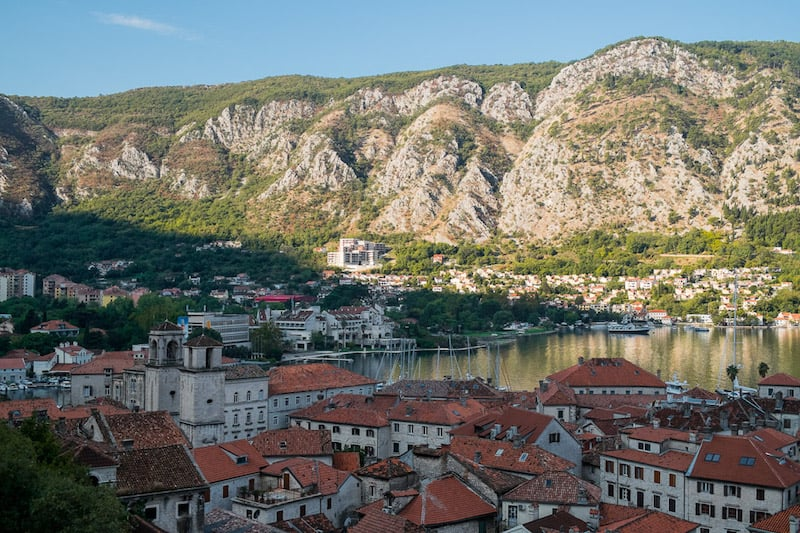 View of Kotor town and bay