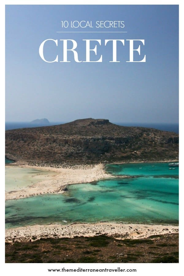 Balos lagoon with text overlay 'Crete - 10 Local Secrets'
