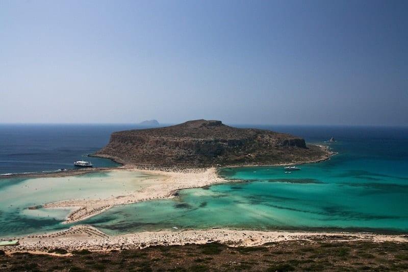 Beautiful Balos lagoon on Crete