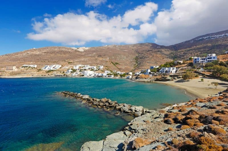 Isternia beach on Tinos