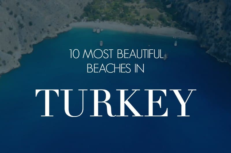 Butterfly Valley with text overlay '10 Most Beautiful Beaches in Turkey'