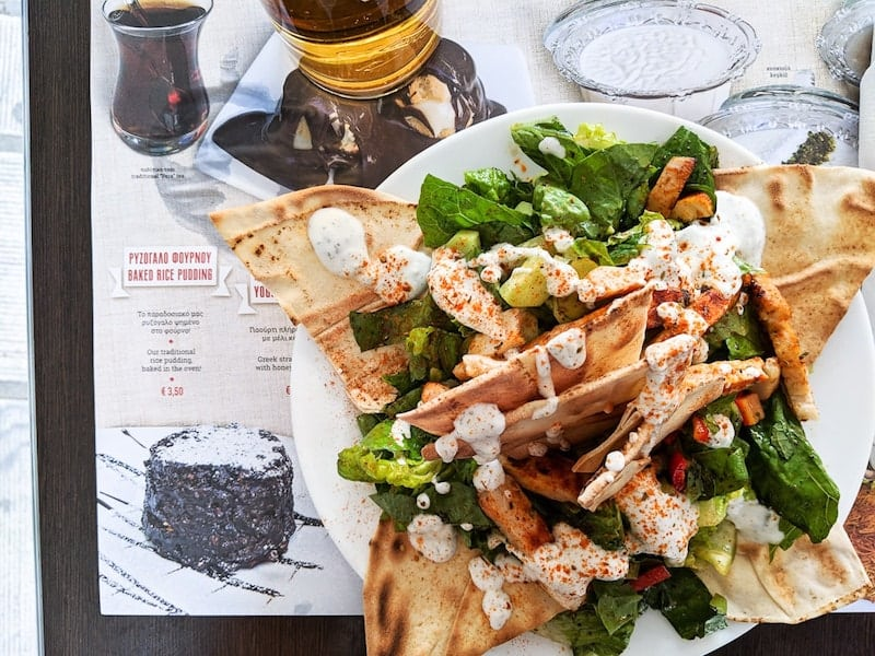 Chicken salad at Feyrouz