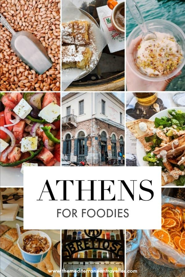 best food in Athens collage with text overlay 'Athens for Foodies'