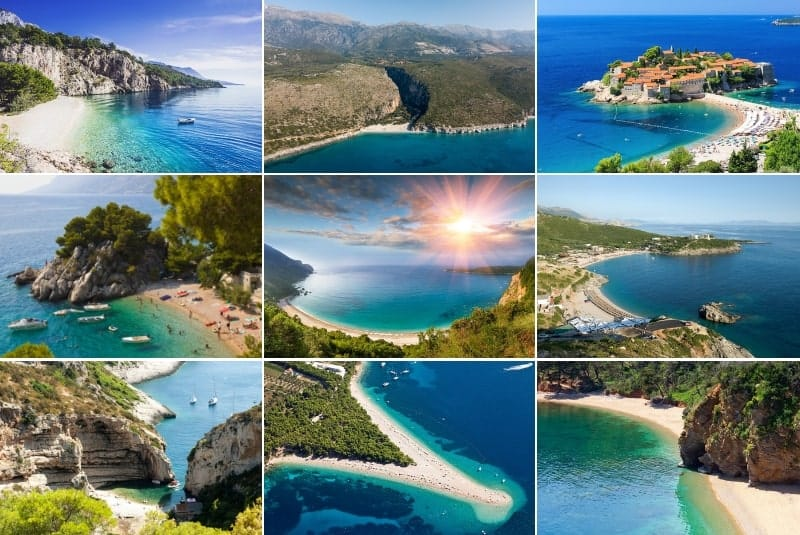 Collage of best Balkan beaches