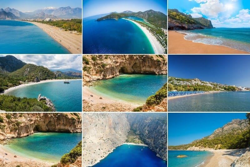 Best beaches in Turkey collage