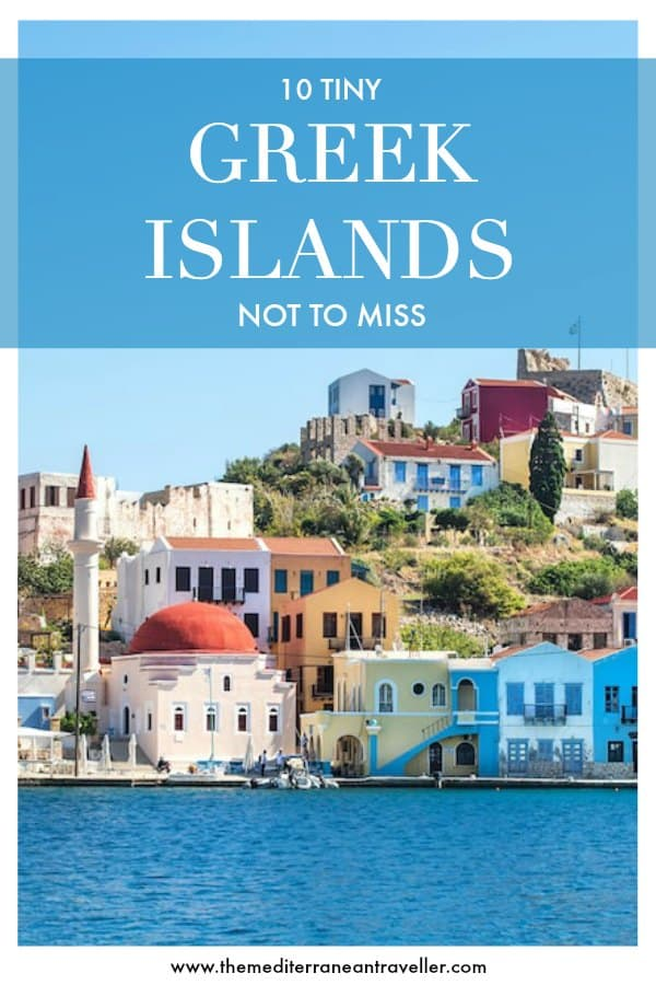 Kastellorizo with text overlay '10 Tiny Greek Islands Not to Miss'