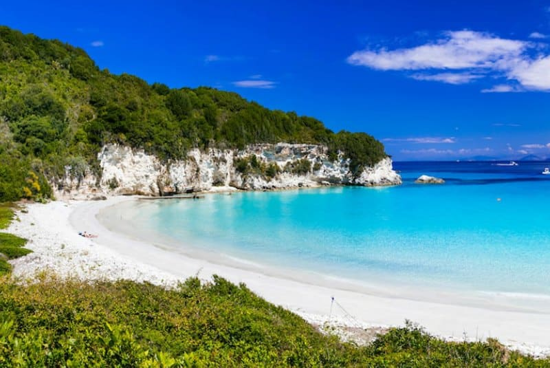 Beautiful beach on Antipaxos
