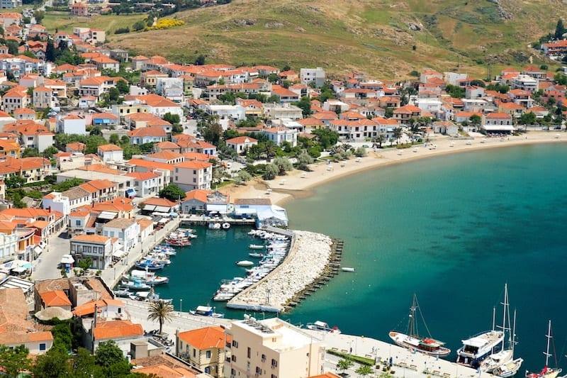 marina and beach of Myrina, Lemnos