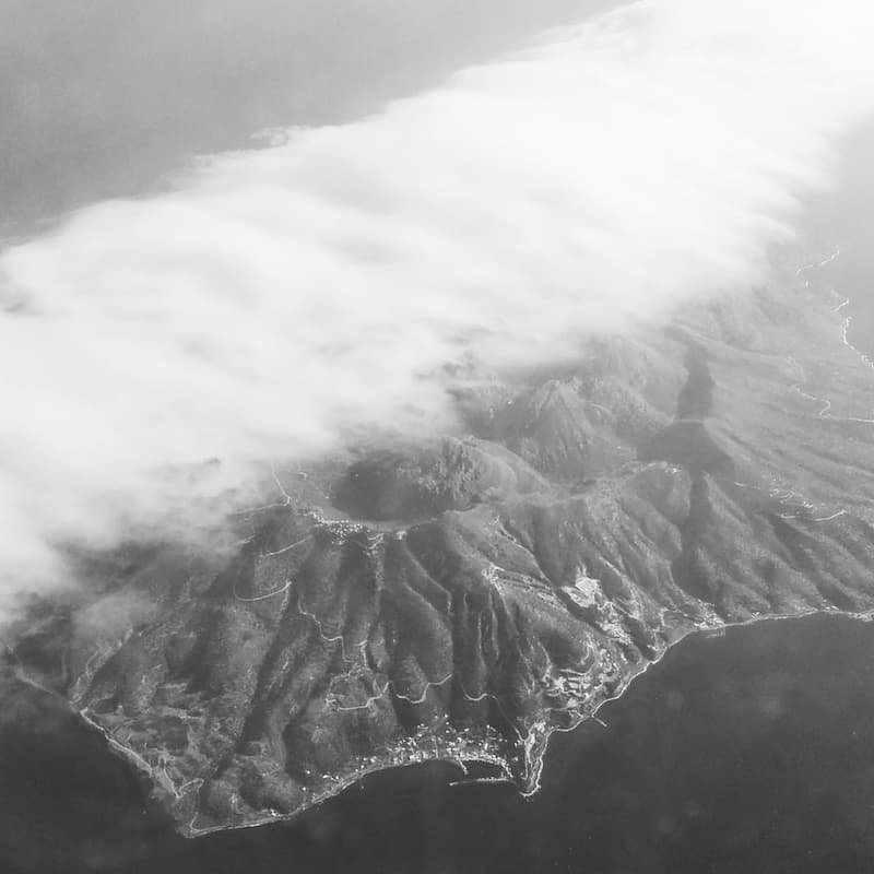 Volcanic Nisyros from the air