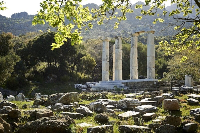 Ancient ruins on Samothraki