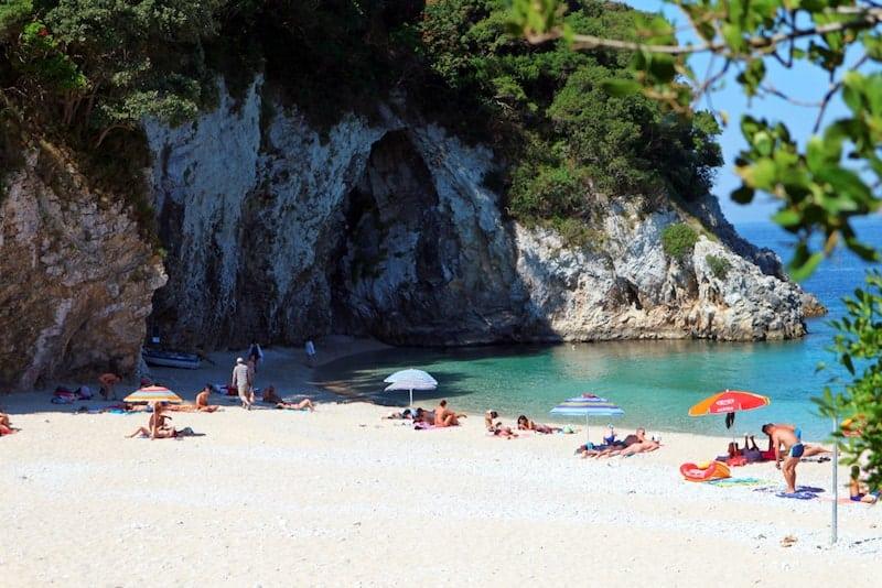 Rovinia beach near Liapades, Corfu