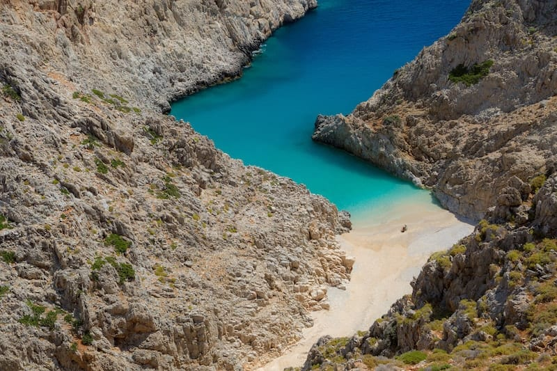 Seitan Limania beach on Crete