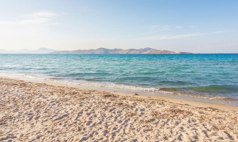 White sandy beach at Tigaki on Kos