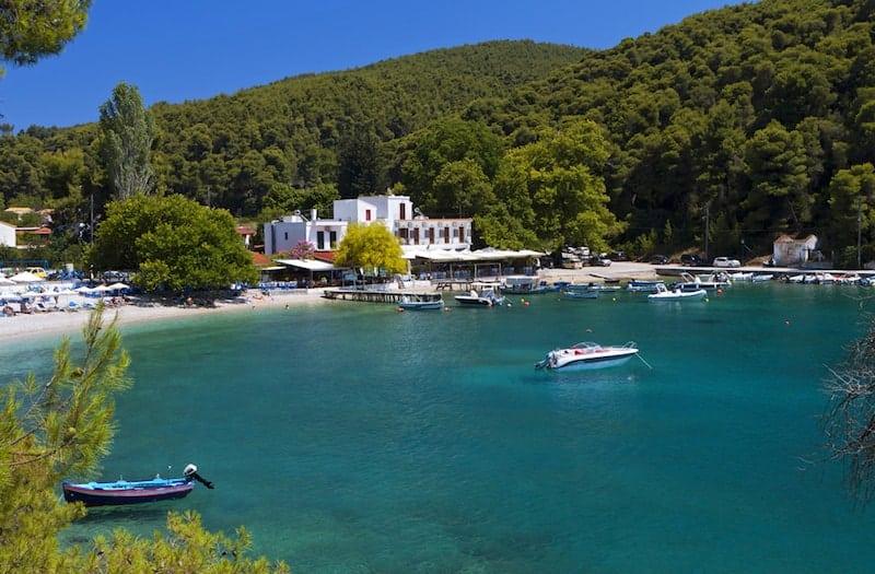 Agnontas village on Skopelos