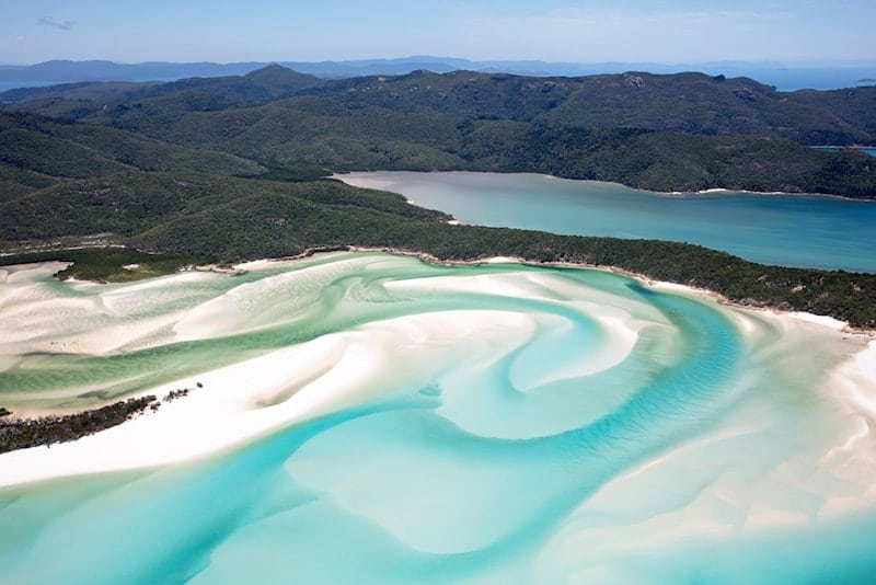 Shifting white sands on Whitehaven, Whitsundays