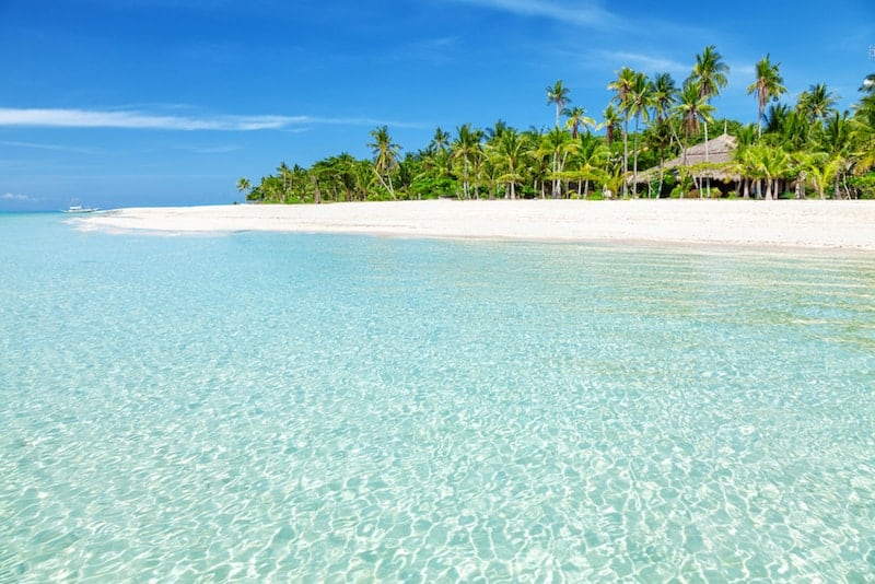 A white sandy beach on Cebu island