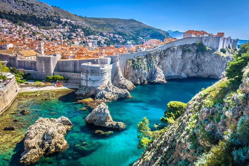 Dubrovnik's walled city from the outside