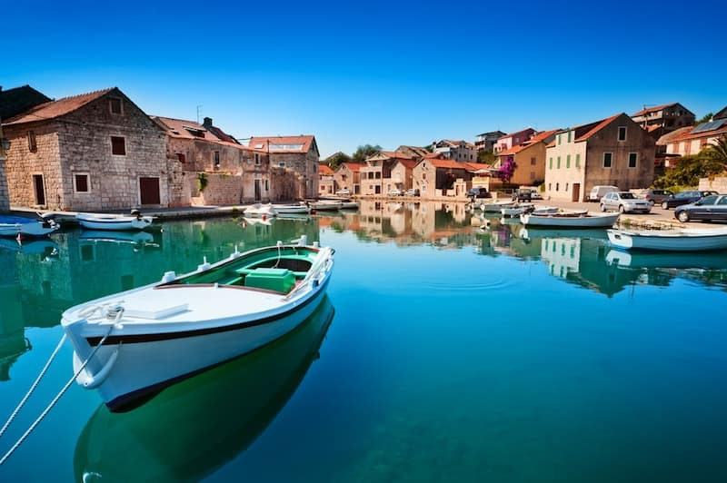 Small boats in Stari Grad, Hvar