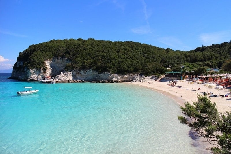 Picturesque Vrika Bay on Antipaxos