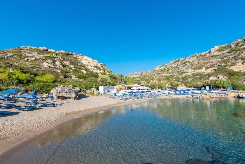 languid waters on Ladiko beach