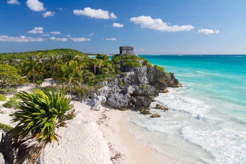 Mayan Ruins on Tulum Beach