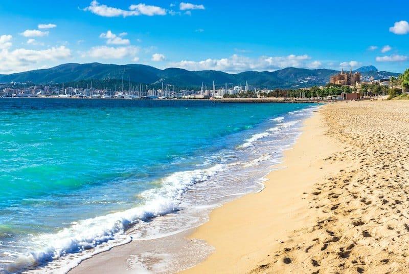 City beach at Palma, Mallorca