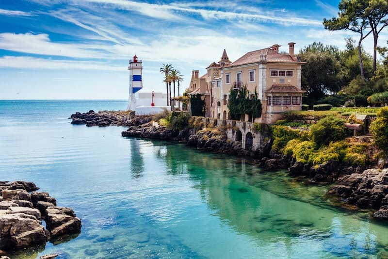 Cascais lighthouse and villa